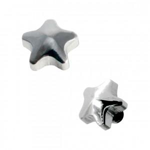 316L Surgical Steel Microdermal Piercing / Dermal Anchor Embossed Star