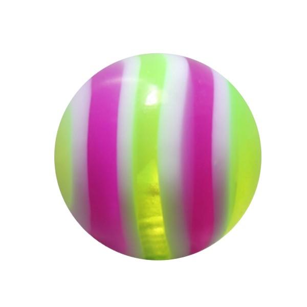 Boule Piercing Acrylique Bonbon Vert / Violet