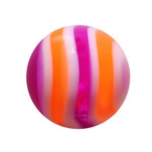 Purple/Orange Bonbon Acrylic UV Piercing Only Ball
