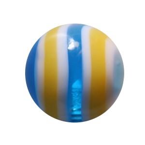 Bola Piercing Acrílico Caramelo Amarillo / Azul