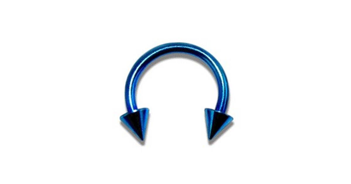 piercing fer cheval pas cher anodis bleu piques. Black Bedroom Furniture Sets. Home Design Ideas