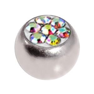 Boule de Piercing Seule Cristal Strass Multicolore