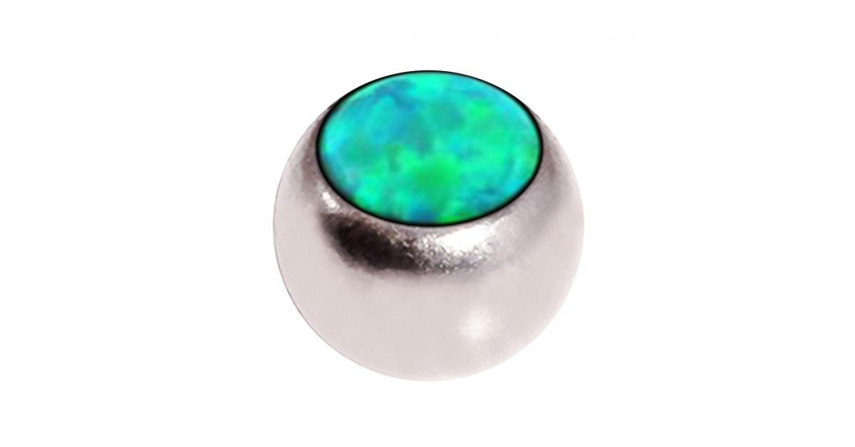 boule de piercing opale synth tique verte seule votre piercing. Black Bedroom Furniture Sets. Home Design Ideas