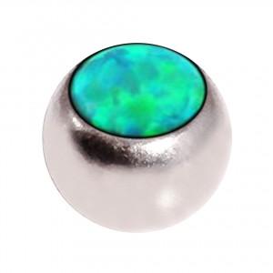 Boule de Piercing Opale Synthétique Verte Seule