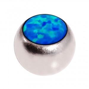 Boule de Piercing Opale Synthétique Bleue Seule