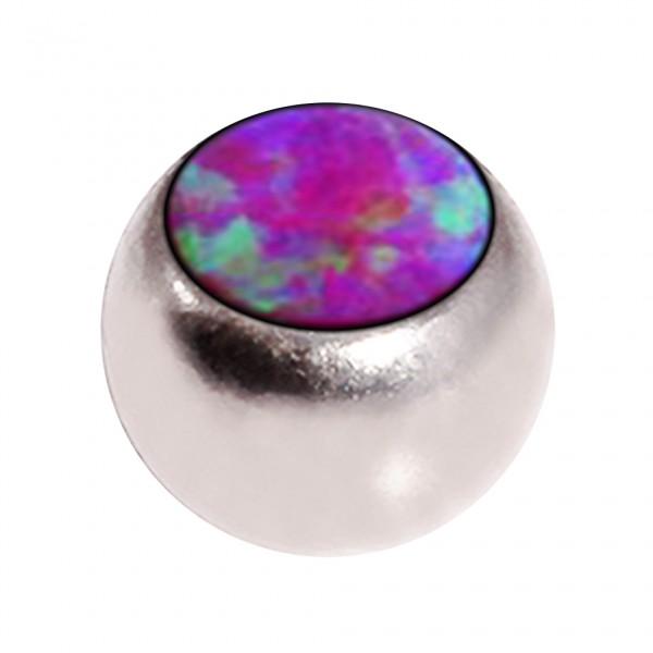 boule de piercing opale synth tique rouge seule votre piercing. Black Bedroom Furniture Sets. Home Design Ideas