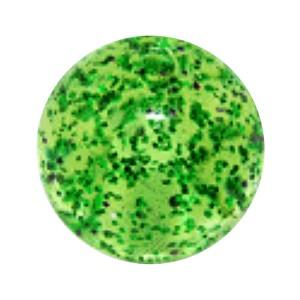 Boule Piercing Acrylique Paillettes Verte