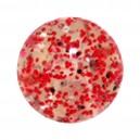 Boule Acrylique Paillettes Rouge