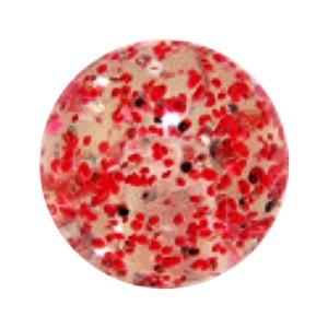 Boule Piercing Acrylique Paillettes Rouge