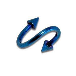 Piercing Hélix / Espiral barato Anodizado Azul Spikes