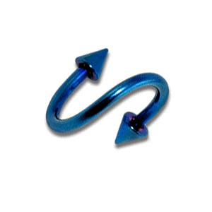 Piercing Helix / Spirale pas cher Anodisé Bleu Piques