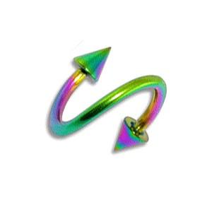 piercing helix spirale pas cher anodis multicolore piques. Black Bedroom Furniture Sets. Home Design Ideas