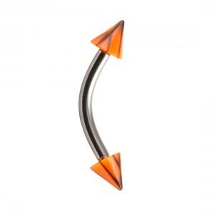 Piercing Arcade Acrylique Fissures Noir / Orange pas cher