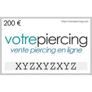 Carte-Cadeau Virtuelle à Télécharger Classique 200 EUR