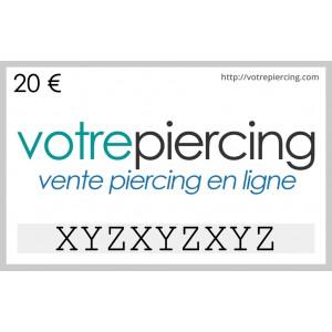 Carte-Cadeau Virtuelle à Télécharger Classique 20 EUR