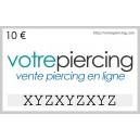 Carte-Cadeau Virtuelle à Télécharger Classique 10 EUR