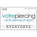 Tarjeta de Regalo Virtual para Descargar Clásica 10 EUR