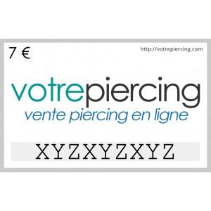 Carte-Cadeau Virtuelle à Télécharger Classique 7 EUR