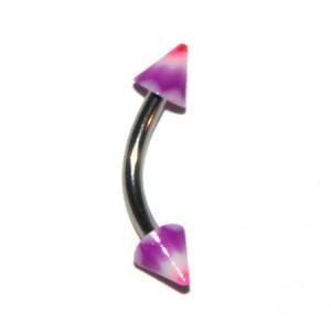 Piercing Arcade Acrylique Vagues Violet / Rose