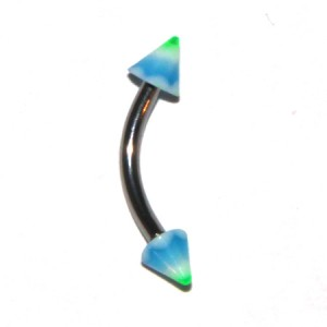 Piercing Arcade Acrylique Vagues Bleu / Vert