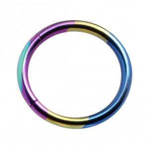 Piercing Anneau Segment Titane Grade 23 Anodisé Multicolore Non-Mélangé [RARE]