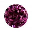 Boule Seule Langue / Nombril Multi-Cristal Violet
