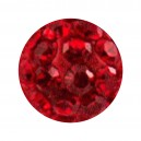 Boule Seule Langue / Nombril Multi-Cristal Rouge