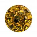 Nur Kugel Zungue / Bauchnabel Multi-Kristall Gelb
