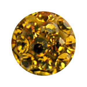 Bola Piercing Sólo Lengua / Ombligo Multi-Cristal Amarillo