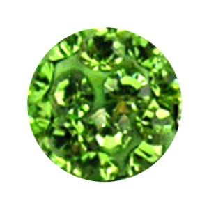 Boule Piercing Seule Langue / Nombril Multi-Cristal Vert