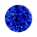 Nur Piercing Kugel Zungue / Bauchnabel Multi-Kristall Dunkelblau