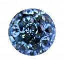 Boule Seule Langue / Nombril Multi-Cristal Bleu Clair