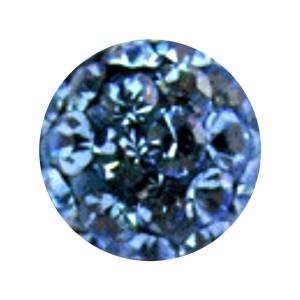 Boule Piercing Seule Langue / Nombril Multi-Cristal Bleu Clair