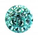 Boule Seule Langue / Nombril Multi-Cristal Turquoise