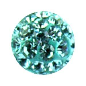 Boule Piercing Seule Langue / Nombril Multi-Cristal Turquoise