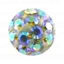 Boule Seule Langue / Nombril Multi-Cristal Multicolore
