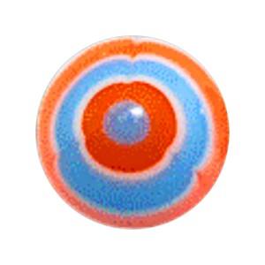 Boule Piercing Acrylique Aztèque Orange / Bleu