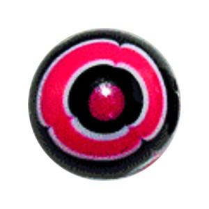 Boule Piercing Acrylique Aztèque Rose / Noir