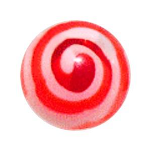 Boule Piercing Acrylique Aztèque Rouge