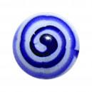Bola Piercing Acrílico Azteca Azul