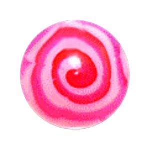 Boule Piercing Acrylique Aztèque Rose