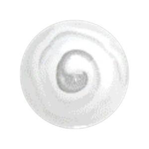 Boule Piercing Acrylique Aztèque Blanc