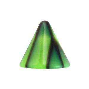 Pique de Piercing Seul Acrylique Fissures Noir / Vert
