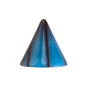 Spike de Piercing Sólo Acrílico Grietas Negro / Azul