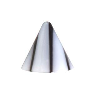 Pique de Piercing Seul Acrylique Fissures Noir / Blanc