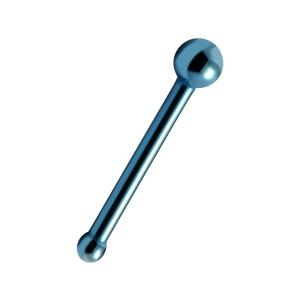 Piercing Nariz Pin Derecho Anodizado Azul Bola