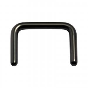 Black Anodized Straight Black-Line Retainer Septum Piercing Ring