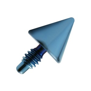 Blue Anodized Spike Top for Microdermal Piercing