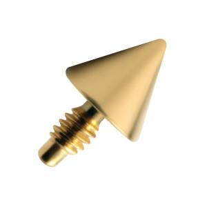 Embout Piercing Microdermal Pique Anodisé Doré