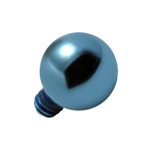 Embout Piercing Microdermal Boule Anodisée Bleue